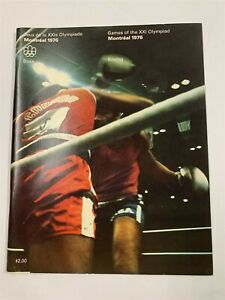 Excellent GAMES OF THE XXI OLYMPIAD MONTREAL 1976 OLYMPIC Boxing PROGRAM 9A-1