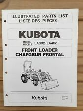 Kubota LA302 LA402 Front Loader Illustrated Parts List