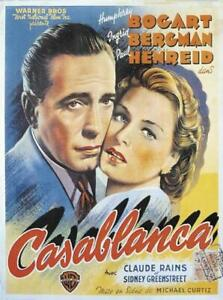 Casablanca Poster 67,5 x 88 cm Wandbild Wanddeko Dekoration Plakat Filmposter