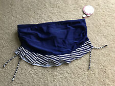 NEW NWT Profile BLUSH skirted bottom blue swim separate L LARGE 12 shirred side