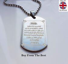 Silver Ayatul Kursi Pendant Necklace Chain Quran Muslim Islamic Islam UK SELLER
