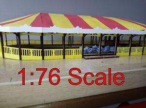 1:76 scale showman's 10 car fairground Brooklands Speedway Ride MDF model kit