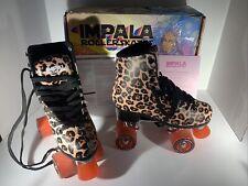 NEW RARE Impala Quad Roller Skates VEGAN Womens Leopard Size 7 - New In Box!