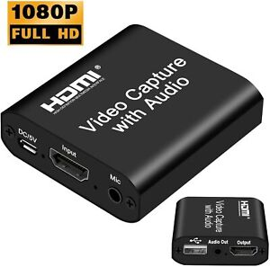 DIGITNOW Audio Video HDMI Capture Card with Loop Out, USB 2.0 4K HD 1080P 60FPS