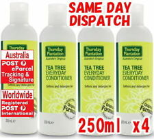 4 x 250ml Thursday Plantation Tea Tree Everyday Conditioner Detangles Hair