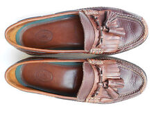 H.S.TRASK BOZEMAN MONTANA TASSEL  LEATHER LOAFER MEN US 9.5M CRAFTED IN BRAZIL