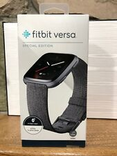 NEW Fitbit Versa Special Edition Charcoal Smartwatch, *Factory Sealed*