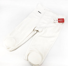 Riddell Adult Integrated Knee Practice Football Pants - Size: Large, White #4279