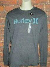 MENS HURLEY CHARCOAL LONG SLEEVE T-SHIRT SIZE M