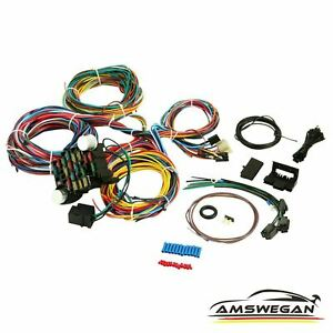Extra long Universal 21 Circuit Wiring Harness Chevy Ford Jeep Hot Street Rods