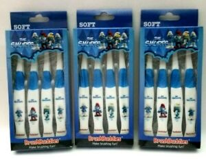 3 PK Brush Buddies The Smurfs Manual Toothbrush 4-Ct Package Total of 12 Brushes