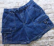 Gloria Vanderbilt Women's Denim Jean Cargo Casual Shorts Size Small