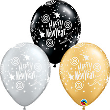 New Year Eve Party Supplies Happy New Year Stars & Swirls Latex Balloon 3 for $2