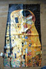 NEUF - Echarpe Foulard grande étole Le Baiser de Gustav Klimt Vienne Art Nouveau