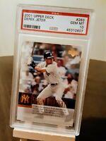 2001 UPPER DECK #263 Derek Jeter New York Yankees HOF Perfect PSA GEM MINT 10