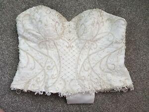 Wedding bodice/corset size 16 Aspire beading details