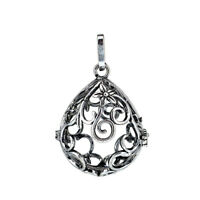 1PC Vintage Silver Ball Turtle Heart Hollow Beads Cage Locket Pendant B85