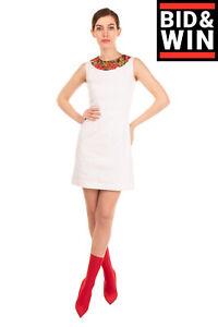 RRP €1665 DOLCE & GABBANA A-Line Dress Size IT 40 / XS Silk Blend Geranium Print