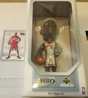 LEBRON JAMES 2003 UPPER DECK ROOKIE with PLAYMAKER BOBBLEHEAD #1 DRAFT PICK NEW