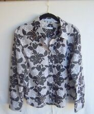 PENDLETON - Women's Brown/White Cotton Button Front L/S Floral Shirt - Size 16P