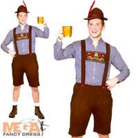 Oktoberfest Guy Mens Fancy Dress Bavarian German Beer Festival Adult Costume Set