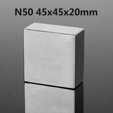 Large Big Square Neodymium N50 45x45x20mm Fridge Magnets Rare Earth Block Cuboid