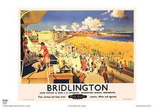 BRIDLINGTON YORKSHIRE VINTAGE RAILWAY TRAVEL POSTER ADVERTISING ART RETRO