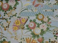 Japanese Oriental Hanabi Joyfull Carp Koi Metallic Feature Quilting Fabric