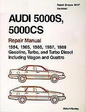AUDI 5000 5000CS S CS 5000S SALOON ESTATE QUATTRO Owners Handbook Repair Manual