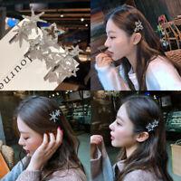 1PC Fashion Women Crystal Star Hair Clip Barrette Stick Hairpin Hair Accessories