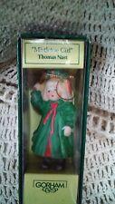 """Gorham Porcelain """"Mistletoe Girl"""" Thomas Nast Christmas Ornament - 3 1/4"""" Tall"""