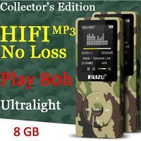 RUIZU X02 Hifi 8G MP3 MP4 Lossless Sound Music Video Player Radio FM - Green GR