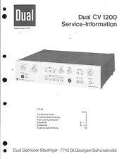 Dual Service Manual für CV 1200  Copy
