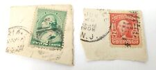 Green Red George Washington Two Cent Stamp Lot 1905 Post Marked