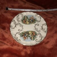 W. S. George Bolera Royal China 22 Kt Gold Saucer Plate Courting Couple 5""