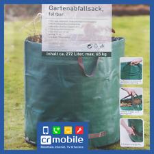 Gartenabfallsack XXL 272L Laubsack Gartensack Kompostbehälter Rasensack faltbar