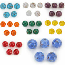 5pcs 10mm Round Lampwork Glass Loose Spacer Beads Clothing Jewelery Making Bead