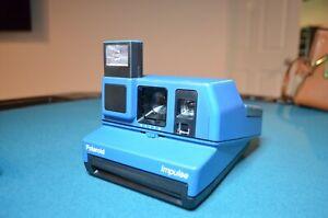 Polaroid Impulse Vintage Instant Film Camera Beautiful Blue