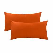 100% Cotton 300 Thread Count Pillowcases  Pillow Cover Orange King Size Set of 2