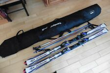 "Rossignol Bandit L skis 63"" w/ Marker M4.1 Bindings Scott Summit 46"" poles & bag"