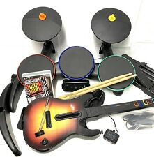 PlayStation 3 PS3 Band Hero Wireless Guitar, Drums, Dongle, Microphone & Game