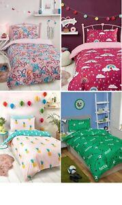 Super Soft Single Duvet Cover Children Kids Bedding Set Girl Boy Rainbow Space