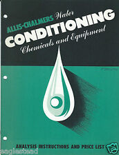 Equipment Brochure - Allis-Chalmers - Water Conditioning - c1950 (E2787)