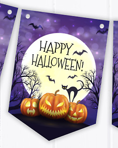 Halloween Party Bunting Decoration - Scary Pumpkin Banner