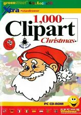 1000 Christmas Clipart Clip Art Images - Greeting Cards PC NEW