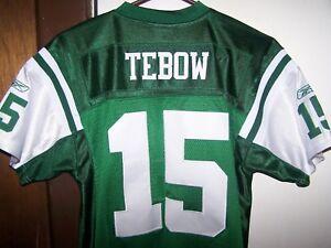 REEBOK NFL ON FIELD NEW YORK JETS TIM TEBOW SEWN JERSEY SIZE YOUTH XL (16-18)