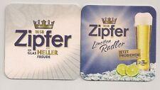 Zipfer Bier - Limettenradler - aktueller Bierdeckel zur Produkteinführung