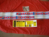 3000 FORD TRACTOR DIESEL COMPLETE DECAL SET 1968-1975