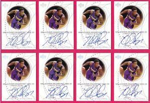 KAREEM RUSH RC 02-03 ULTIMATE COLLECTION SIGNATURES ON CARD AUTO LAKERS LOT OF 8