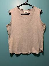VTG 90s GITANO SPORTSWEAR Sleeveless Shirt Tank Top V Neck Women's XL Gray